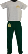 PE Uniform Long Pant & T-Shirt Set w/ Embroidered logo