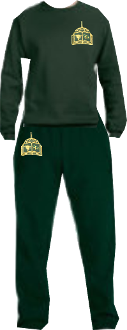 PE Uniform SweatPant & Sweatshirt Set w/ Embroidered logo